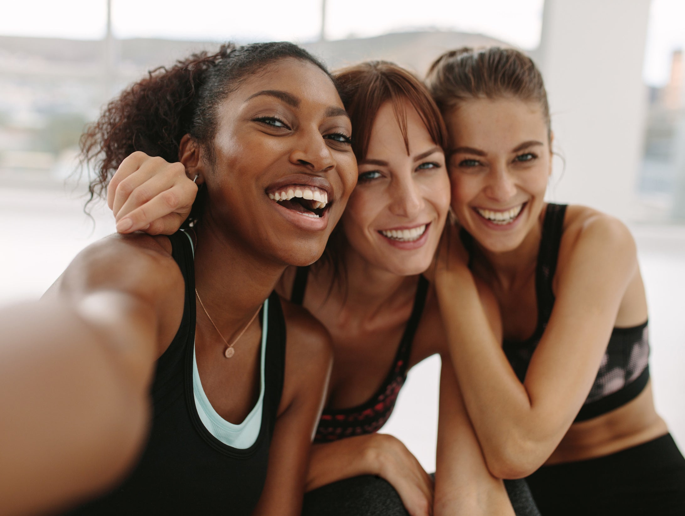 3 women making a selfie - Probiotics Category