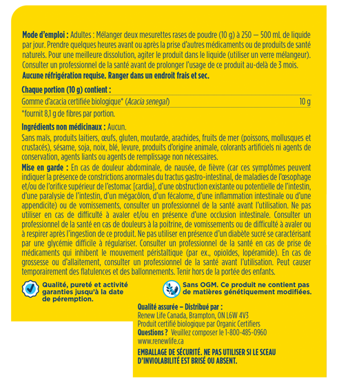 Organic Clear Fibre 270g